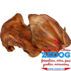 Lot de 10 oreilles de porc séchées, naturelles et croustillantes pour chien.