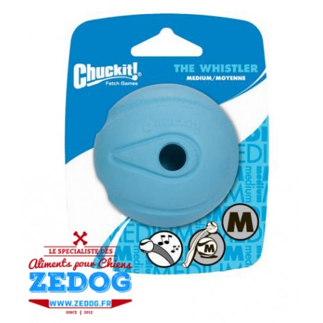 balle whistler sifflante chuckit pour chien