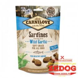 snack crunchy à la sardine carnilove 200 gr