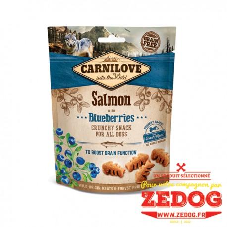 snack crunchy au saumon carnilove 200 gr