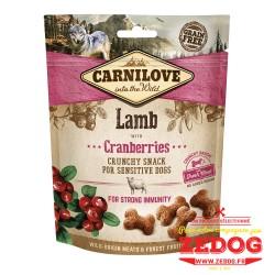 snack Carnilove pour chien à l'agneau 200 gr