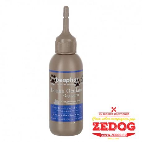Lotion oculaire pour nettoyer les yeux des chiens et des chats tout en douceur.