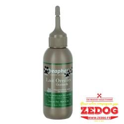 Lait pour nettoyer les oreilles des chiens et des chats tout en douceur sans perturber l'équilibre des tissus de l'oreille.