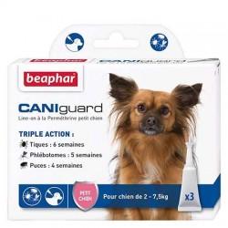 Triple pour chiots et chiens protection contre les Puces,  les phlébotomes et les tiques.