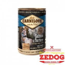 Boite pour chien Carnilove - Saumon et Dinde