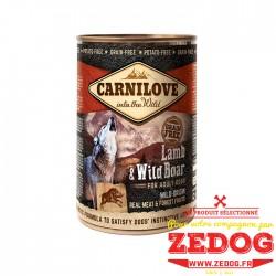 Boite pour chien Carnilove - Agneau et Sanglier