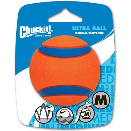 ultra ball chuckit balle pour chien non abrasive, super résistante et flottante