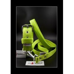 Collier El Perro  Kennel Green Neon