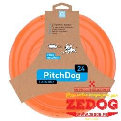 Frisbee Pitchdog ORANGE pour chien nouvelle génération